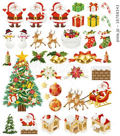 クリスマス アイコン 16768343