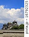熊本城 空 青空の写真 16792325