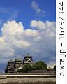熊本城 空 青空の写真 16792344