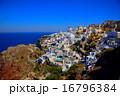 サントリーニ島イアの町並み 16796384