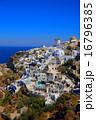 サントリーニ島イアの町並み 16796385