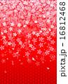 桜 年賀状 背景  16812468