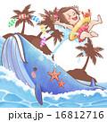 夏休み クジラと女の子 16812716
