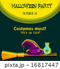 Invitation card for Halloween party 16817447