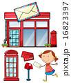 ポスト 郵便 配置のイラスト 16823397