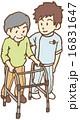 男性 シニア 歩行器のイラスト 16831647