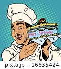 パティシエ 料理人 シェフのイラスト 16835424