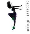 woman zumba dancer dancing exercises silhouette 16850980