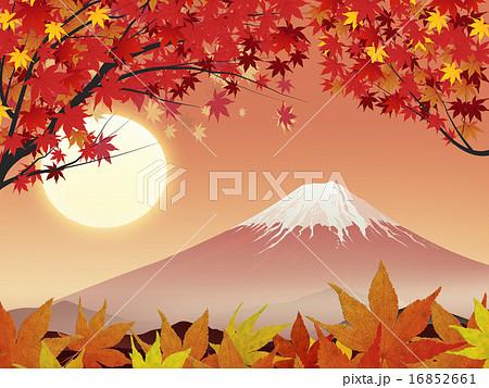 紅葉と富士 16852661