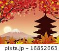夕暮れ 五重塔 富士山のイラスト 16852663
