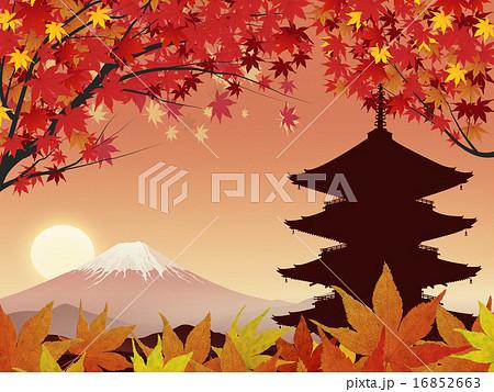 五重塔と富士 16852663