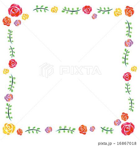 バラ  フレーム正方 16867018