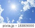 青空と太陽と雲イメージ 16869000