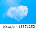 ハート型の雲 16871252