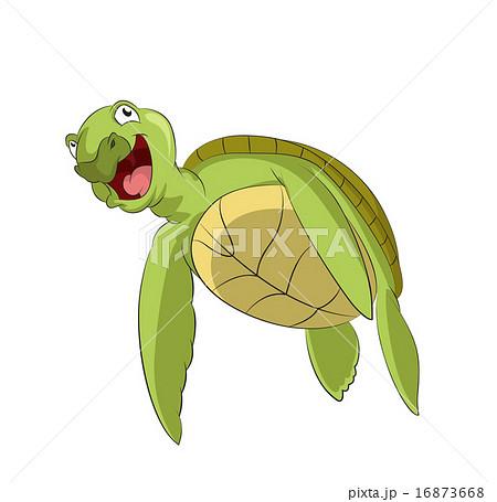 cartoon turtleのイラスト素材 16873668 pixta