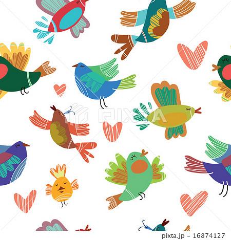 Spring birds seamless pattern.のイラスト素材 [16874127] - PIXTA