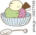 ベクター アイスクリーム スイーツのイラスト 16877596