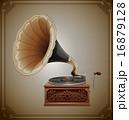 蓄音機 ビンテージ アンティークのイラスト 16879128