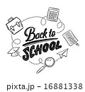 Hand drawn back to school message surrounded by icons vector 16881338