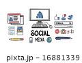Using social media vector 16881339