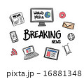 Breaking news concept vector 16881348