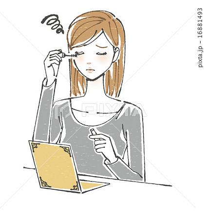 化粧が上手くいかない女性イラストのイラスト素材 16881493 Pixta
