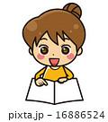 用紙を指さす女性【コミカル・シリーズ】 16886524