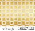 和の背景-金箔-市松 16887188