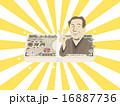 vサイン ベクター 1万円札のイラスト 16887736