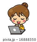 喜ぶ ベクター キャラクターのイラスト 16888350