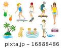 夏 人物 セット 16888486