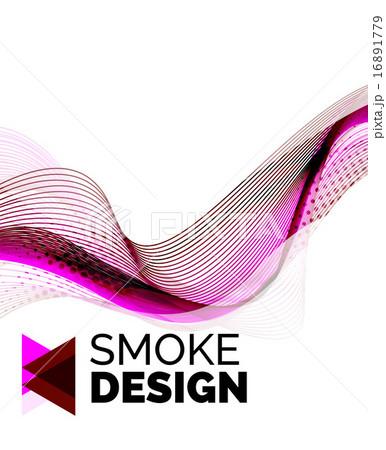 Color smoke wave on white - design elementのイラスト素材 [16891779] - PIXTA