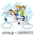 家族 家族旅行 ベクターのイラスト 16899425