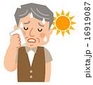 猛暑 熱中症 暑いのイラスト 16919087