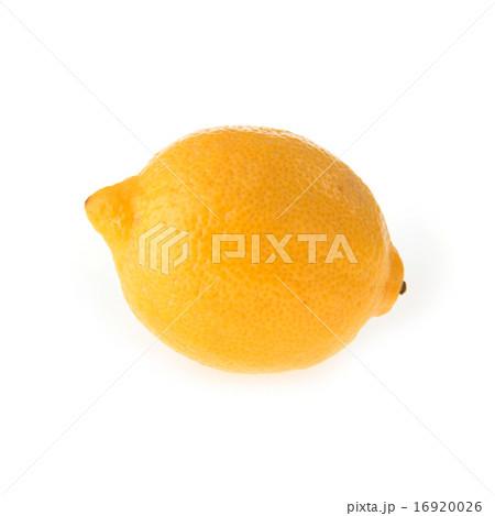 lemon fruit sour isolated on white backgroundの写真素材 [16920026] - PIXTA