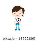 フットボール サッカー 子供のイラスト 16922895