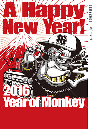 2016年賀状_B-Monkey_賀詞無し 16923651