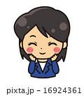 笑顔の女性【コミカル・シリーズ】 16924361
