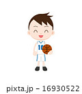 ミニバスケットボール バスケットボール 男の子のイラスト 16930522