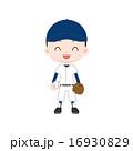 野球少年 ボールとグローブ 16930829