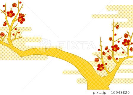 梅の背景のイラスト素材 [16948820] - PIXTA