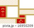 松竹梅 ベクター はがきテンプレートのイラスト 16950209