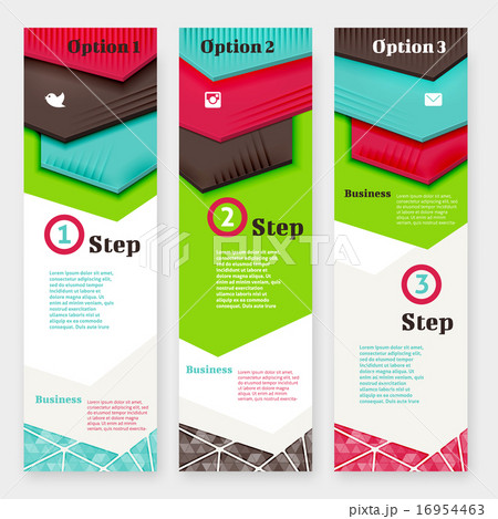 set of banner design templateのイラスト素材 16954463 pixta