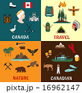 Canadian travel and nature flat icons 16962147