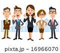 女性を中心としたビジネスのチーム 16966070