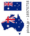 オーストラリア地図と国旗 16970758