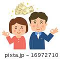 中年夫婦お金とOKサイン 16972710