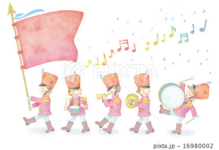 音楽隊のイラストのイラスト素材 16980002 Pixta