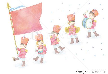 音楽隊のイラストのイラスト素材 16980004 Pixta