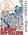 ベクター ハガキテンプレート 七福神のイラスト 16983501
